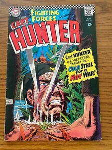 OUR FIGHTING FORCES   #102  DC 1966  CAPT. HUNTER  (War)  KUBERT CVR
