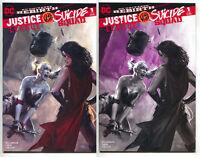 Justice League VS Suicide Squad 1 Dell'otto Set B&W Color 2 Variant Harley Quinn