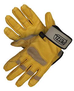 Petzl Cordex Plus Kletterhandschuhe Outdoor Leder Beige Handschuh Hellbraun