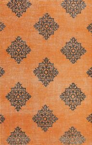Contemporary Geometric Oushak Oriental Area Rug Vintage Style Hand-knotted 6x8