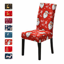 4/6PCS Christmas Chair Slipcovers Stretch Dining Chair Cover Xmas Decorations