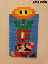 Super Mario Brothers Pixel Perler Light Switch Cover Plate Duplex Outlet New