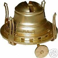 QUEEN ANNE OIL LAMP PART BRASS BURNER AND WICK  B9521