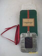 Longaberger Christmas Santa 2002 Pewter Photo Frame NIB