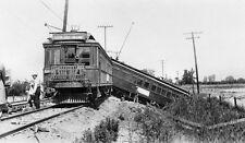 Vintage PACIFIC RAILROAD TRAIN WRECK 8x10 photo, Santa Ana Orange CA, Free Ship