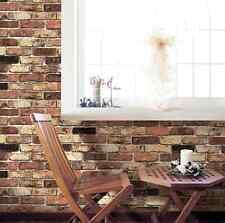 Vintage Brick Home Deco Self Adhesive Peel-Stick Wallpaper 25.8 sq feet Coverage