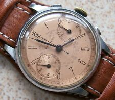 Primera Military Type Chronograph mens wristwatch 36 mm. caliber Valjoux 22