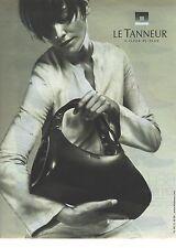PUBLICITE ADVERTISING 2001   LE TANNEUR sacs bagages