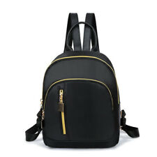 Fashion Women Small Backpack Travel Nylon Handbag Shoulder Bag Black