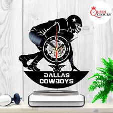 Dallas Cowboys Wall Clock Vinyl Record Art Football Home Room Decor Best Gifts !