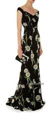 DOLCE & GABBANA Floral Daisy Print Off Shoulder Gown Dress IT44 UK12, 3500GBP