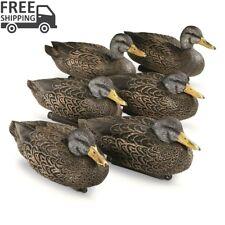Black Duck Floaters Decoy 6 Pack Waterfowl Hunt Shoot Practice Outdoor Realistic