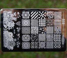 HK Large Nail Art Image Stamp Template Plates Polish Stamping Manicure Image