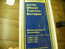 Cat Caterpillar 637G Tractor Scraper Service Manual Awe Ayn Axt Dis & Assembly