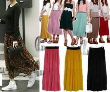 Chiffon Long Pleated Skirts for Women