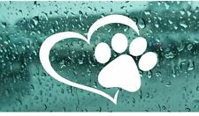 Pet Paw Heart Animals Lovers Car Vinyl Decal Sticker Decor Home Love Dog Cat