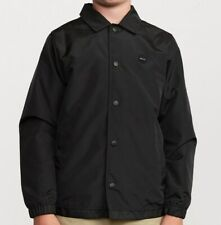 RVCA Men's BERNI COACHES Jacket - Black - XLarge - NWT