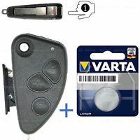 Alfa Romeo 156 147 166 GT klapp Schlüssel 3 Tasten Ersatz Gehäuse Varta Batterie