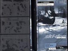 2001 SKI-DOO SNOWMOBILE TUNDRA R, SKANDIC and S SERIES OPERATOR MANUAL (508)