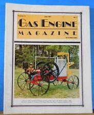 Gas Engine Magazine 1987 July An Ingeco Engine Is Restored IHC Dealers Catalog