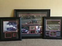 Dale Earnhardt Jr autograph Mounted Memories display collection