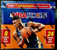Panini 2019-20 NBA Hoops Basketball Trading Card Sealed Box (24 Packs) auto Zion