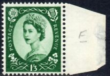 1955 Sg 555 1s3d green St Edward's Crown Unmounted Mint - Margin Hinged