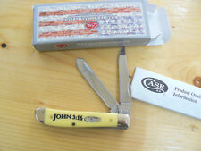 NUOVO Case CA8850 John 3:16 Mini Trapper coltello knife couteau navaja