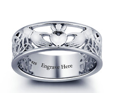 Size 6 Claddagh Ring with Celtic Design 925 Sterling Silver, Mothers Day, Boxed