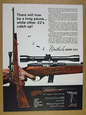 1970 Weatherby Mark XXII Deluxe .22 22 Rifle vintage print Ad