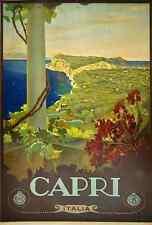 Metal Sign Capri Travel Poster Italian By Mario Borgoni A4 12X8 Aluminium