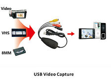 USB Analog Audio Video Grabber Capture from VHS,8MM,Video Camera Recorder to PC