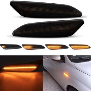 For Alfa Romeo 147 02-10 156 97-06 Smoke Lens Dynamic LED Side Marker Lights 2pc