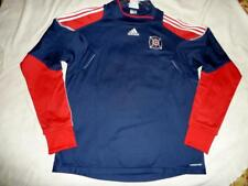 2011 NWOT Adidas MLS Chicago Fire Men XL Long Sleeve Warm Soccer Jersey Red/Navy
