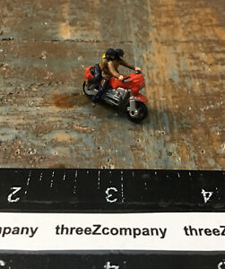 """Vtg Micro Machines BMW K100 Motorcycle With Bikers 1"""" Version Red"""