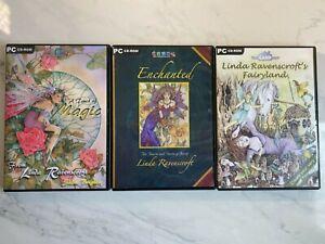 Bundle Of 3 Linda Ravenscroft Cd Rom Inc Fairyland, Enchanted + A Touch of Magic