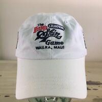 CHAMPIONS SKINS GAME - Vtg White Golf Cap Hat, Arnold Palmer, Jack Nicklaus