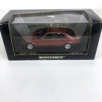 Minichamps BMW 7-series 1986 Red Metallic Car