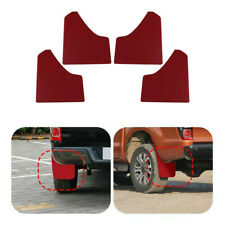 Wheel Mudflaps Splash Guard Front Rear Full Set Red Fit For Car Truck Universal
