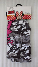 Disney Minie Fille Leggings 3/4 Ans Gris Camouflage Neuf A