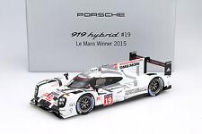 Porsche 919 Hybrid #19 Winner 24h LeMans 2015 Hülkenberg, Tandy, Bamber 1:18 Sp