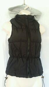 Womens Girls New Look Gilet Size UK 14  Black Hooded Jacket rrp £24.99 New