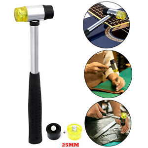 25mm Rubber & Nylon Mini Mallet Soft Dual Head Hammer Rubber Grip Flooring Tool