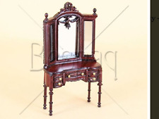 "Dollhouse Miniature HALF SCALE BESPAQ ""Jeanne"" Swag Vanity Bedroom 1/24th"