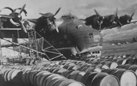 """WWII photo Servicing the German Me.323 """"Giant"""" transport aircraft in North A/54c"""