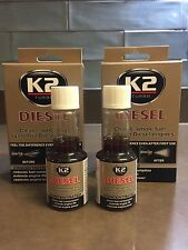 2 X K2 DIESEL Additive Concentrated Injector Fuel Cleaner Reduce Emission - 50mL