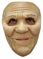 SMILING OLD LADY LATEX FACE MASK SCARY CHARACTER / HALLOWEEN FUN