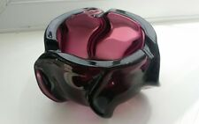Vintage purple art glass Parker pens bowl attributed to Whitefriars.
