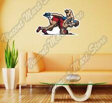 "Wrestling Fighting Sparring Martial Art Wall Sticker Room Interior Decor 25""X18"""