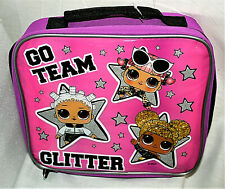 L.O.L. Go Team Glitter Soft Lunch Cold Carry All Bag New NOS School